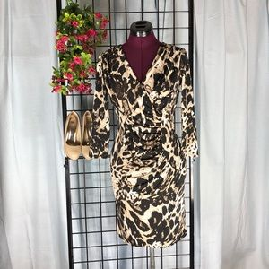 Dana Buchman Animal Print Dress